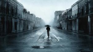 walking-in-rain-painting-wallpaper-hd