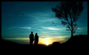 Romantic-couple-in-night